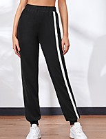 cheap -Women's Basic Chino Comfort Sport Gym Active Jogger Pants Solid Color Ankle-Length Sporty Pocket Black