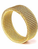 cheap -- 8mm stainless steel mesh ring (gold) - 13