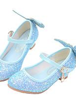 cheap -Girls' Heels Princess Shoes PU Little Kids(4-7ys) Big Kids(7years +) Party & Evening Walking Shoes White Blue Pink Spring Summer