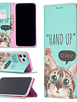 cheap -Case For Apple iPhone 12 / iPhone 11 / iPhone 12 Pro Max Shockproof Full Body Cases Animal PU Leather