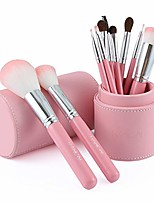 cheap -makeup brushes 10 pcs set premium synthetic foundation powder brushes concealers eye shadows brushes kit - cylinder set brush - makeup brush set cylinder set brush full set of beauty tools
