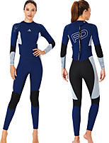 cheap -Dive&Sail Women's Full Wetsuit 1.5mm CR Neoprene Diving Suit Windproof Quick Dry Long Sleeve Back Zip Patchwork Autumn / Fall Spring Summer
