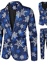 cheap -Tuxedos Tailored Fit Notch Single Breasted One-button Polyster / Polyester Cartoon / Snowflake / Christmas