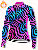 cheap -21Grams Women's Long Sleeve Cycling Jacket Winter Fleece Spandex Fuchsia Bike Jacket Mountain Bike MTB Road Bike Cycling Fleece Lining Warm Sports Clothing Apparel / Stretchy / Athleisure