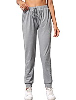 cheap -Women's Basic Casual Comfort Daily Jogger Sweatpants Pants Solid Colored Full Length Drawstring Gray