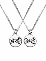 cheap -3 pinky promise necklace pinky swear best friends gift sisters necklaces friendship jewelry (2 pinky necklace)