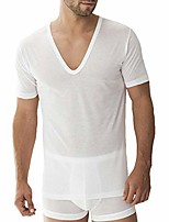 cheap -zimmerli royal classic deep v-neck t-shirt (2528124) m/white