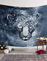 cheap -Wall Tapestry Art Deco Blanket Curtain Hanging Home Bedroom Living Room Dormitory Decoration Polyester Fiber Animal Painted Gray Leopard