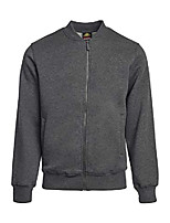 cheap -bomber jacket - men's all weather heavy cotton blend fleece bomber jacket (s, charcoal)
