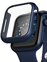 cheap -compatible apple watch series 6/5 /4 /se 44mm case with screen protector accessories slim guard thin bumper full coverage matte hard cover defense edge for women men new gen gps iwatch (blue)