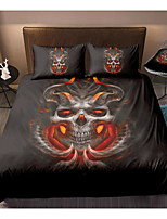 cheap -Skull Series Horrible Skull Print 3-Piece Duvet Cover Set Hotel Bedding Sets Comforter Cover with Soft Lightweight Microfiber For Room Decoration(Include 1 Duvet Cover and 1or 2 Pillowcases)