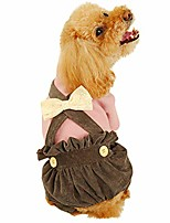 cheap -pet fashion bow lantern cute bib pants by gornorriss, dog clothes apparels for winter dog jumpsuits one-piece jacket costumes apparel