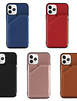cheap -Case For iPhone 12 / iPhone 12 Mini / iPhone 12 Pro Max Card Holder Shockproof Back Cover Solid Colored PU Leather TPU