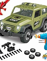 cheap -jeep construction car building toy military off road vehicle set with electric drill car with realistic lights and sounds for kids babies toddlers supply by noble toys factory(35pcs)
