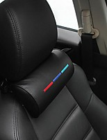 cheap -1PC Car Styling Seat Neck Pillow Protection PU Auto Headrest Support Rest Travelling Car Headrest Neck for BMW Interior Accesory