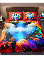 cheap -3D Colorful Smog 3-Piece Duvet Cover Set Hotel Bedding Sets Comforter Cover with Soft Lightweight Microfiber, Include 1 Duvet Cover, 2 Pillowcases for Double/Queen/King(1 Pillowcase for Twin/Single)