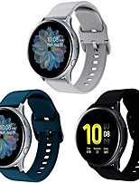 cheap -compatible with huawei watch gt 2 (42mm) / honor watch magic 2 (42mm) watch strap, soft silicone waterproof replacement strap (20mm, dark blue + gray)