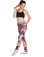 cheap -Women's Casual Yoga Comfort Daily Gym Leggings Pants Multi Color Graphic Ankle-Length Patchwork Print Fuchsia