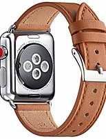 cheap -strap compatible for watch 38mm 40mm 42mm 44mm strap,top grain leather band replacement strap with stainless steel clasp for watch series 5/4/3/2/1,(38mm 40mm,white band+silver square buckle)