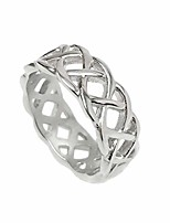 cheap -mens silver braided stainless steel celtic knot band ring love wedding non tarnish (size 9)