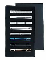 cheap -tie clip shirts cufflinks set business parts necktie pins bars cuff links box for men 8pcs-2