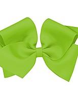 cheap -baby girls' mini king classic grosgrain hair bow on a weestay clip w/plain wrap - grasshopper