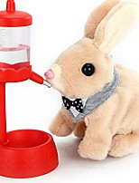 cheap -rabbit electric children's plush toy, smart walking will call cute rabbit playmate play house toy, can be used as christmas/birthday gift