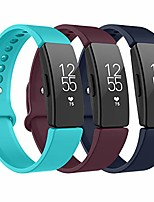 cheap -for fitbit inspire hr strap & fitbit inspire strap, sport silicone replacement bands compatible with fitbit inspire/inspire hr/ace 2 (wine red+navy blue+teal) s