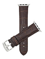 cheap -replacement watch band for apple watch 38mm, brown, mens' alligator style leather, fits series 1, 2, 3 and 4
