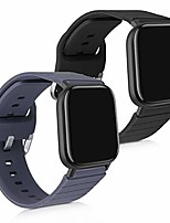 cheap -silicone watch strap compatible with xiaomi mi watch - 2x fitness tracker replacement band wristband set with clasp