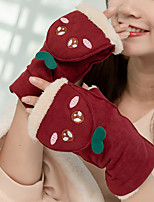 cheap -Winter Bike Gloves / Cycling Gloves Warm Fingerless Gloves Sports Gloves Army Green Burgundy Grey for Adults' Cycling / Bike