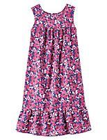 cheap -women's casual sun dress - sleeveless house dress with ruffle hem fuchsia floral sp
