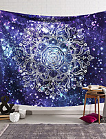 cheap -Mandala Bohemian Wall Tapestry Art Decor Blanket Curtain Hanging Home Bedroom Living Room Decoration Boho Hippie Polyester Fiber Color Purple Mandala Pavilion Design
