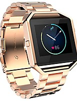 cheap -for fitbit blaze straps with frame,  fitbit blaze watch strap stainless steel smart watch bands replacement strap bracelet wristband with frame for fitbit blaze fitness accessories - rose gold