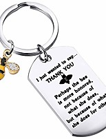cheap -honey bee charm keychain perhaps the bee is more honored because of what she does for others bee jewelry keyring appreciation gift for teachers, coworkers,employees (silver)