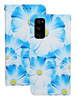 cheap -Case For Huawei HUAWEI P40 / HUAWEI P40 Pro / Huawei P30 Shockproof Full Body Cases Flower PU Leather / TPU