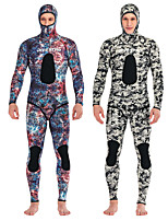 cheap -DIVESTAR Men's Full Wetsuit 3mm CR Neoprene Diving Suit Quick Dry Long Sleeve 2 Piece Camo / Camouflage Autumn / Fall Spring Summer