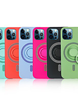 cheap -Case For iPhone 12 / iPhone 12 Mini / iPhone 12 Pro Max Shockproof Ring Holder Back Cover Solid Colored TPU