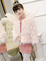cheap -Long Sleeve Shawls / Cute Faux Fur / POLY Party / Party / Evening Shawl & Wrap / Kids' Wraps With Solid