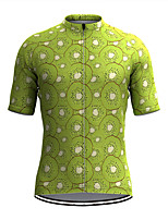cheap -Men's Short Sleeve Cycling Jersey Green Fruit Bike Top Mountain Bike MTB Road Bike Cycling Breathable Sports Clothing Apparel / Stretchy / Athletic