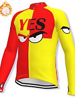 cheap -21Grams Men's Long Sleeve Cycling Jacket Winter Fleece Spandex Red / Yellow Bike Jacket Mountain Bike MTB Road Bike Cycling Fleece Lining Warm Sports Clothing Apparel / Stretchy / Athleisure