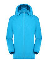 cheap -Men's Hiking Skin Jacket Skin Coat Hiking Windbreaker Jacket Top Outdoor Waterproof Lightweight Windproof Breathable Autumn / Fall Spring orange Pink White Fishing Climbing Camping / Hiking / Caving