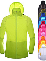 cheap -Men's Hoodie Jacket Hiking Skin Jacket Skin Coat Long Sleeve Sweatshirt Top Outdoor Lightweight Breathable Quick Dry Sweat-wicking Autumn / Fall Spring Solid Color Sapphire fluorescent green Pink