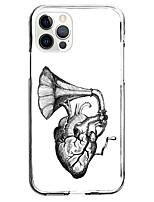 cheap -instagram trumpet fashion case for apple iphone 12 iphone 11 iphone 12 pro max unique design protective case shockproof back cover tpu