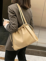 cheap -Women's Bags PU Leather Tote Embossed Plain 2021 Daily Going out White Black Yellow Khaki