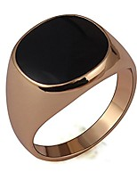 cheap -black enamel rose gold filled ring for woman and men size 6-14