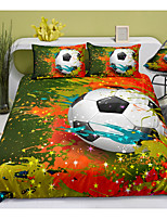 cheap -sports series football print 3-piece duvet cover set hotel bedding sets comforter cover with soft lightweight microfiber, include 1 duvet cover, 2 pillowcases for double/queen/king(1 pillowcase for