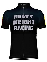 cheap -21Grams Men's Short Sleeve Cycling Jersey Black / Yellow Black / White Bike Top Mountain Bike MTB Road Bike Cycling Breathable Sports Clothing Apparel / Stretchy / Athletic