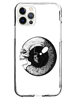 cheap -skull of eye fashion case for apple iphone 12 iphone 11 iphone 12 pro max instagram style case unique design protective case shockproof back cover tpu