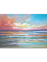 cheap -100% Hand Painted Contemporary Art Oil Paintings on Canvas Modern Stretched and Framed Abstract Ocean Artwork Ready to Hang